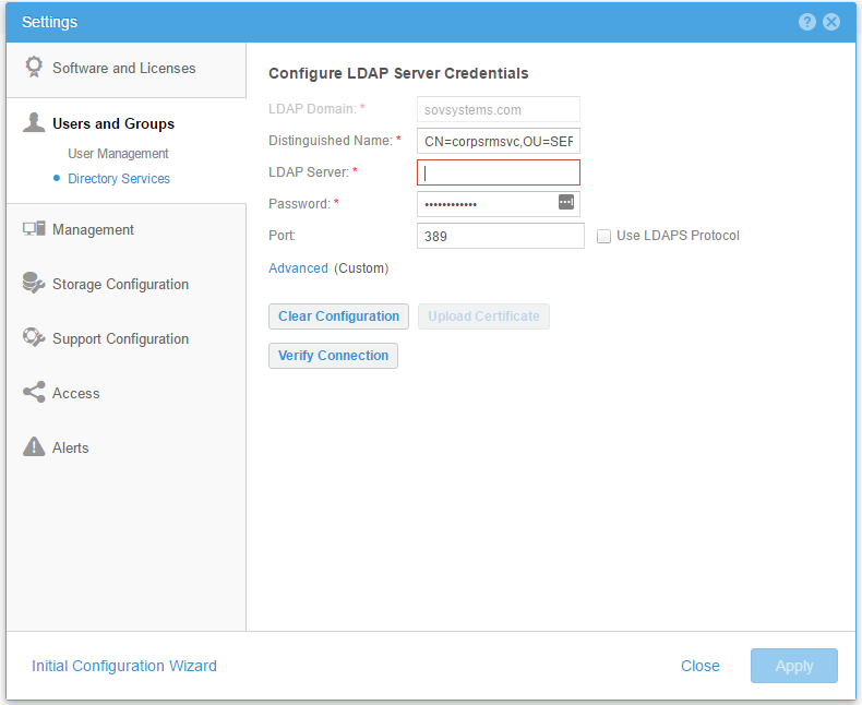 VirtualRealization: EMC UnityVSA : adding LDAP authentication