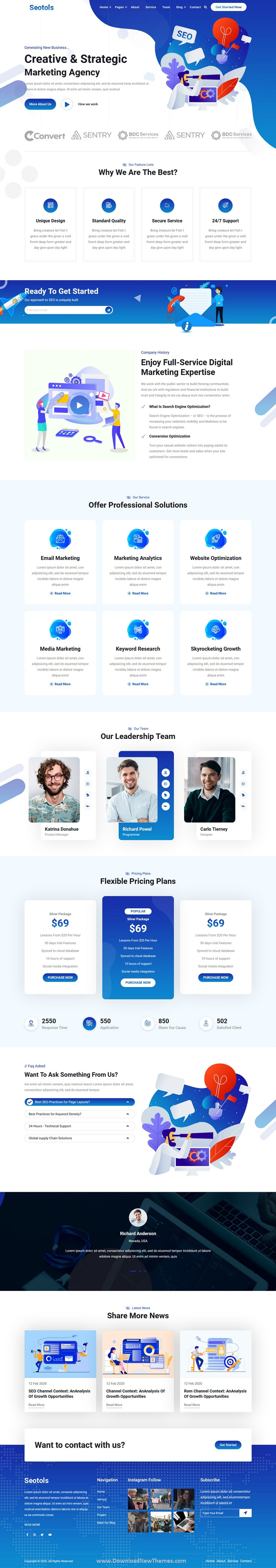 SEO And Agency HTML Template