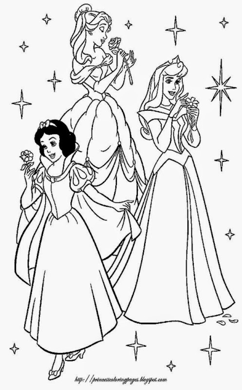 PRINCESS COLORING PAGES FOR KIDS  Coloring Pages Printable