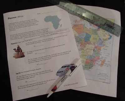 Africa is a great cross-curricular way to bring STEM into your proportions unit! Students (either alone or in pairs) work through questions that require measuring, calculating conversions, solving proportions, percentage problems, determining the mean, and reading a map.  They learn about Africa as their journey takes them around the continent!