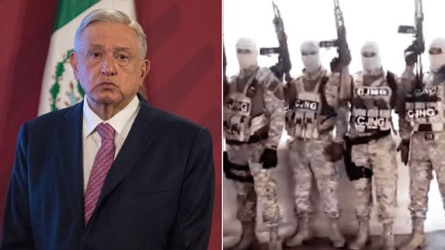 El Presidente López Obrador ya está amenazado de muerte por el CJNG de El Mencho: Buscaglia