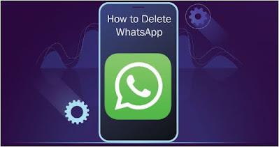 حذف, حساب, واتس, آب, مقابل, إلغاء, تثبيت, تطبيق, واتس, آب