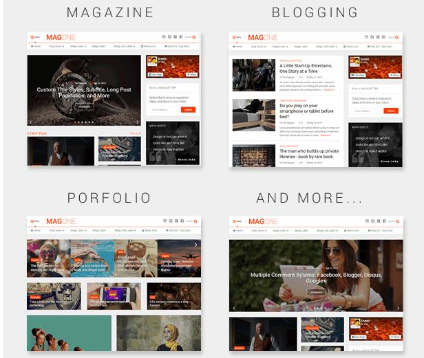 MagOne Template Blogger Responsive Magazine