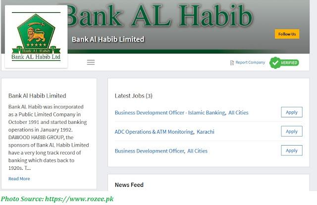 Bank AlHabib Jobs 2021 - Latest Jobs in Bank Al Habib May 2021 Apply Online
