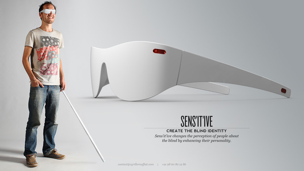 blind glasses impaired visually obstacle sens braille eyewear ive sunglasses sensitive detecting vision nephrostomy object detection person eyes surroundings sensor