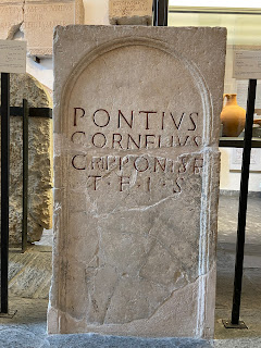 Example of abbreviation TFIS on Roman tombstone (100 - 200 AD). Bolgare.