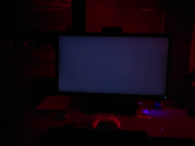 NEC PA311D displaying black in dark room