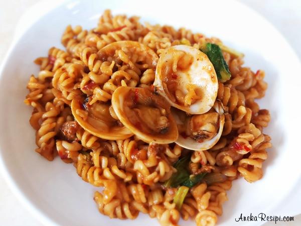pasta spiral lala daging