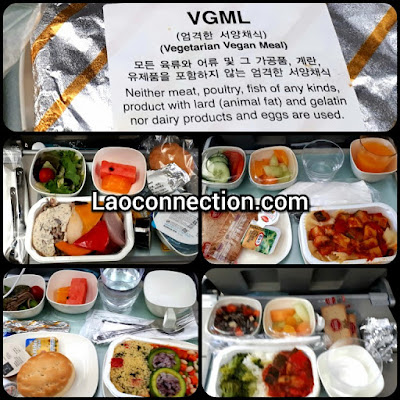 Vegan food abroad Korean Air