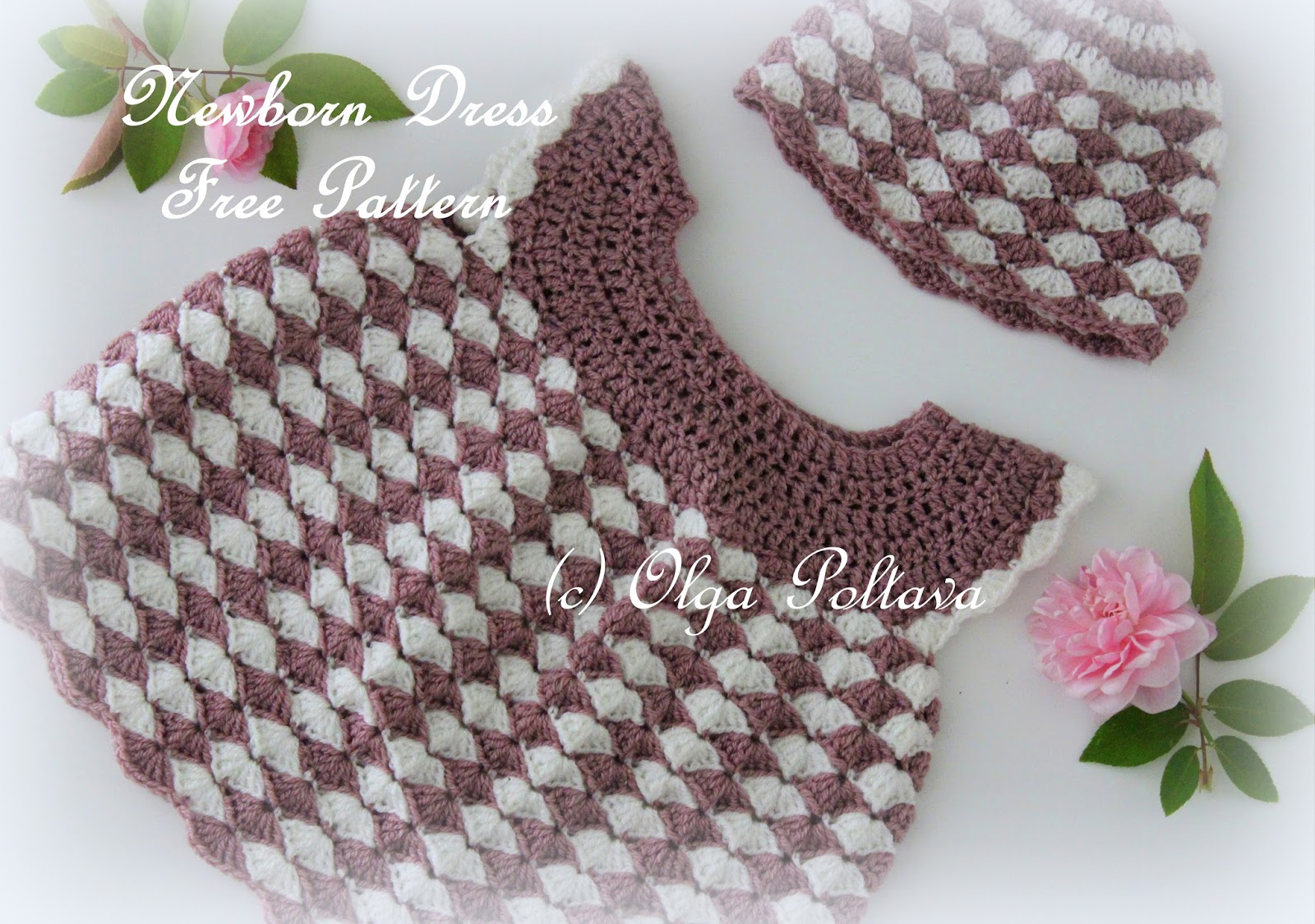 Lacy Crochet: Shells Newborn Dress Free Crochet Pattern