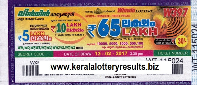 Results lottery WIN-WIN 389