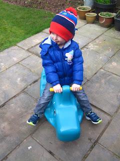 Little boy on a seesaw