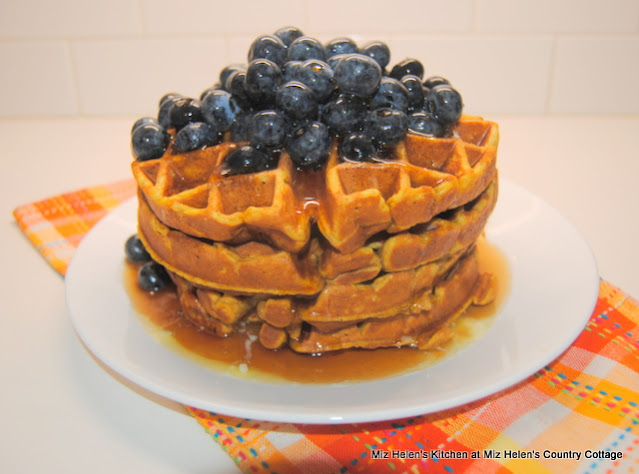 Pumpkin Waffles at Miz Helens Country Cottage