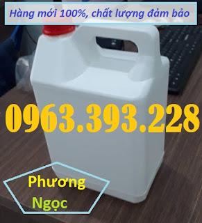 Can nhựa HDPE nguyên sinh, can nhựa đựng hóa chất 5 Lít, can nhựa 5L E471730f499fadc1f48e