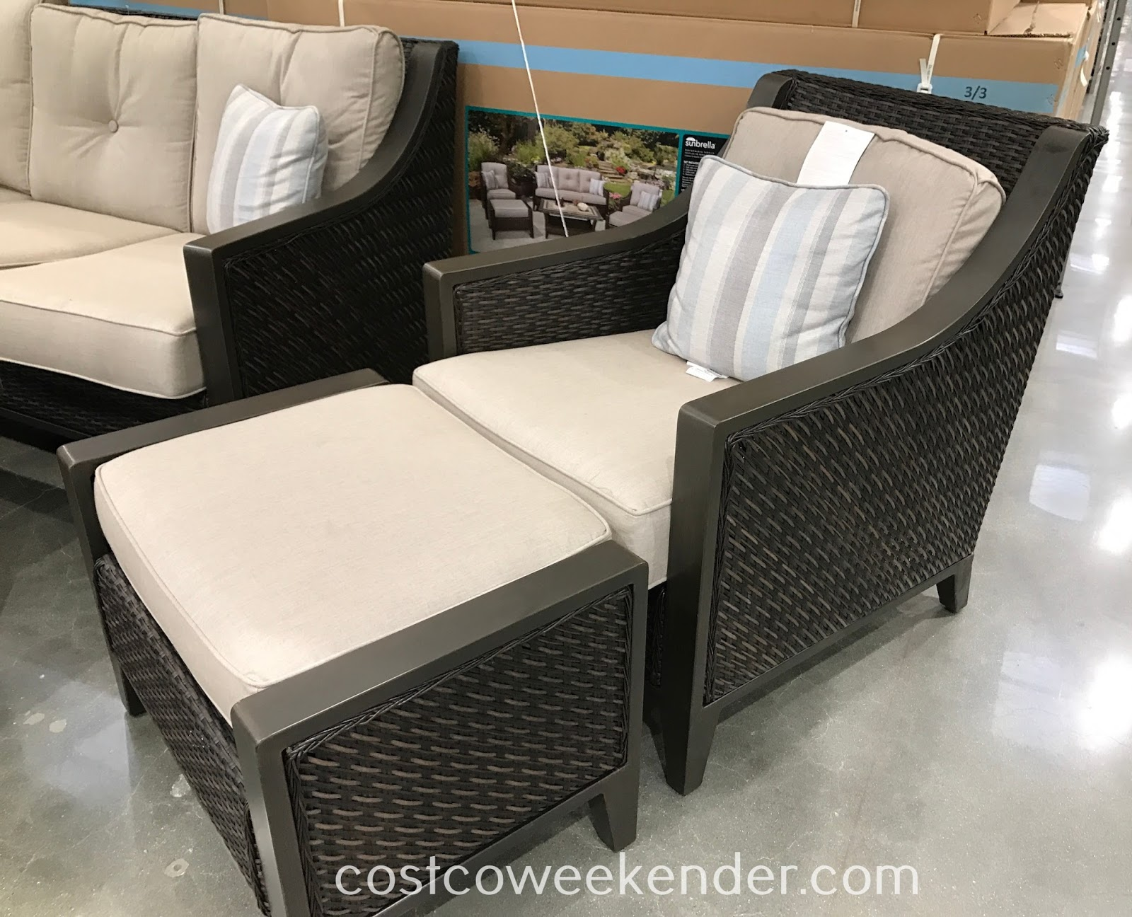 Agio 6-piece Woven Deep Seating Set: just in time for summer outdoor fun!