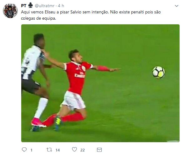 Benfica Salvio Penaltie