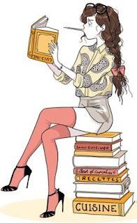 femme livre cuisine recette
