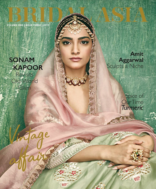 Sonam Kapoor on the Cover of Bridal Asia