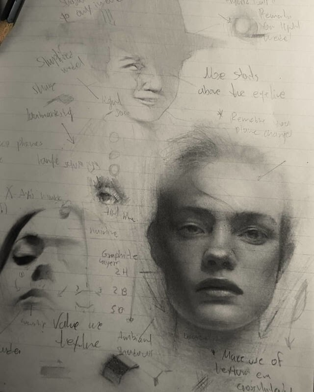 01-Appearing-John-Fenerov-Charcoal-and-Graphite-Portraits-on-Paper-www-designstack-co