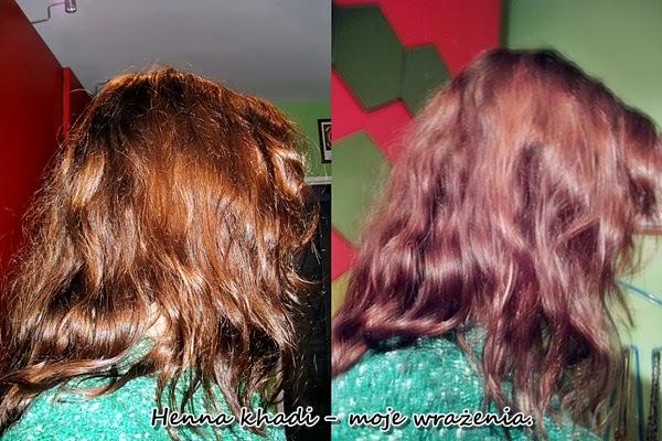 Efekt po farbowaniu henną Khadi Jasny brąz po myciu, kolor utleniowny