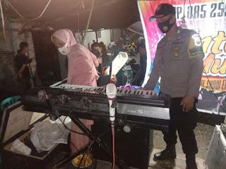 Polisi Bubarkan Musik Elekton Pesta Pra Pernikahan di Desa Benteng Luwu Utara
