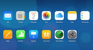 Trova iPhone iCloud