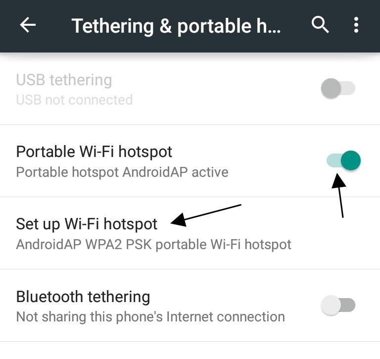 Setting up Wi-Fi Hotspots