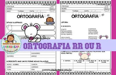 atividades de Ortografia, 2º ano, 3º ano, para imprimir, Letra R, leitura, ditado, PDF,
