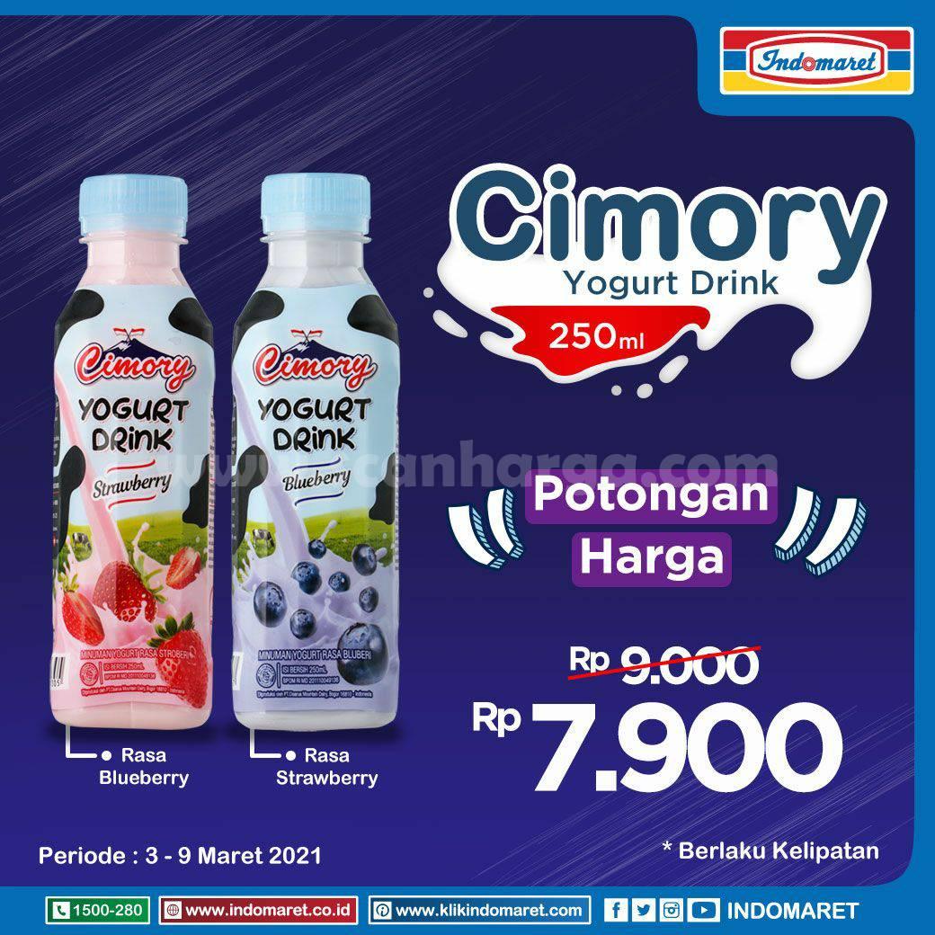 Promo Cimory Yogurt Drink 250ml di Indomaret harga cuma Rp 7.900