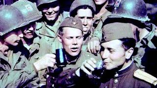 Encuentro en el rio Elba, tropas soviéticas y estadounidenses
