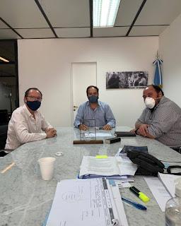 Juan Manuel Alvarez, participó de un encuentro con el Secretario de Hábitat de la Nación, Santiago Maggioti