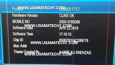 Gx6605s F1 F2 Cccam OK New Software 2019