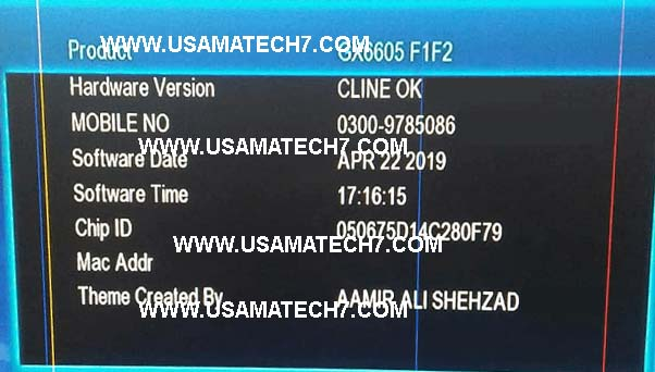 Gx6605s F1 F2 Cccam OK New Software 2019 - Usama Tech7