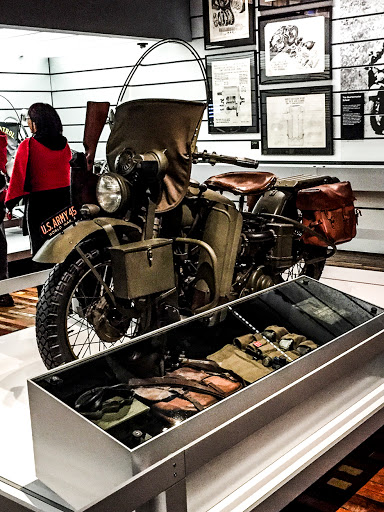 The Motorcycles that helped win the war at Harley Davidson Museum in Milwaukee WI