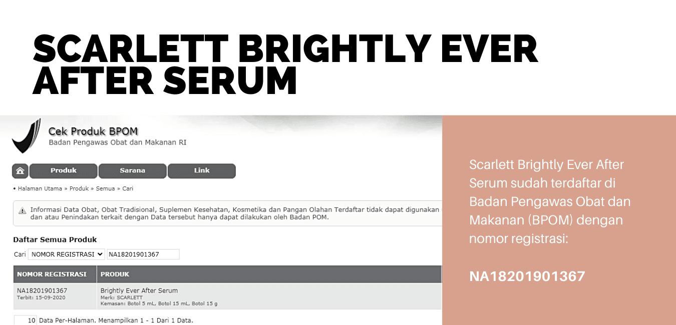 Cek BPOM Scarlett Brightly Ever After Serum