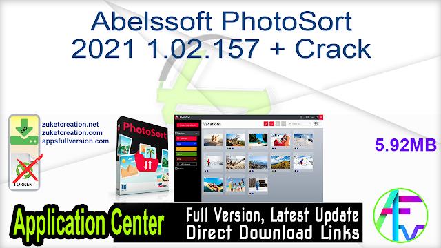 Abelssoft PhotoSort 2021 1.02.157 + Crack