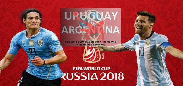 Prediksi Taruhan Bola 365 - Uruguay vs Argentina 1 September 2017