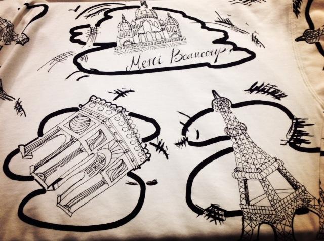 mercibeaucoup,【メルシーボークー】パリ柄裏毛ワンピース ☆香川・綾川店