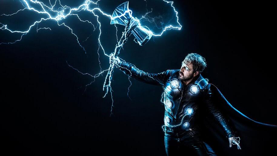 Thor, Stormbreaker, Lightning, 4K, #4.225