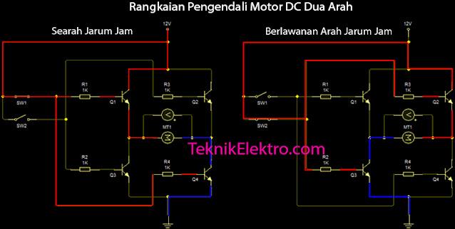 Rangkaian Pengendali Motor DC Dua Arah