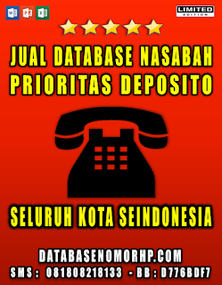 Jual Database Nasabah Deposito