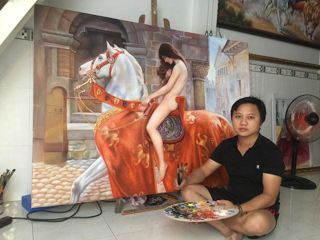 Mua tranh sơn dầu giá rẻ, quy cách đặt vẽ