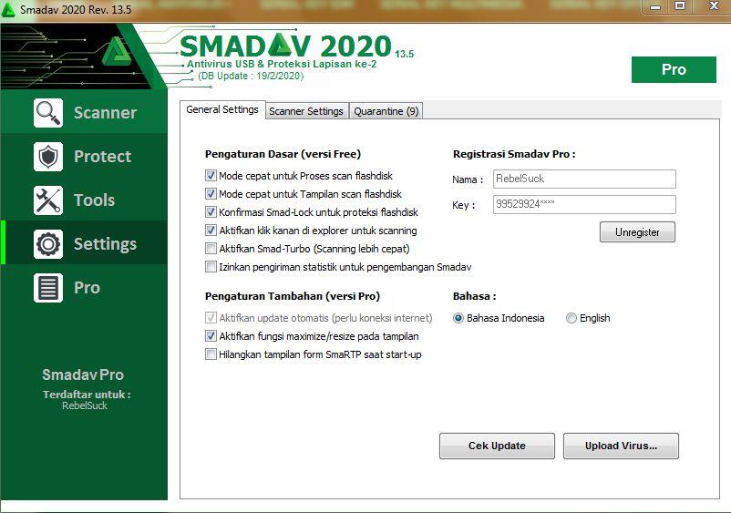 Serial Number Smadav PRO Rev.13.5 Update Terbaru 2020 ...