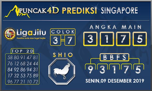 PREDIKSI TOGEL SINGAPORE PUNCAK4D 09 DESEMBER2019