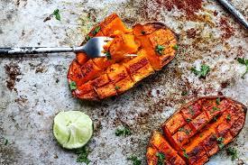Chili + Honey Roasted Sweet Potatoes With Lime Juice #healthyfood #dietketo #breakfast #food