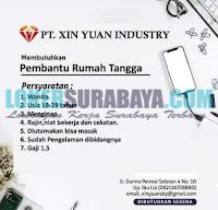 Karir Surabaya Terbaru di PT. Xin Yuan Industry Juli 2019
