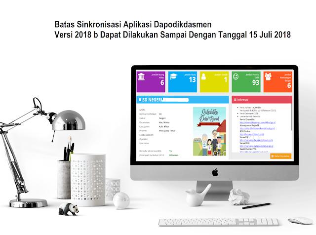 Sinkronisasi Aplikasi Dapodikdasmen Versi 2018 b Dapat Dilakukan Sampai Dengan Tanggal 15 Juli 2018