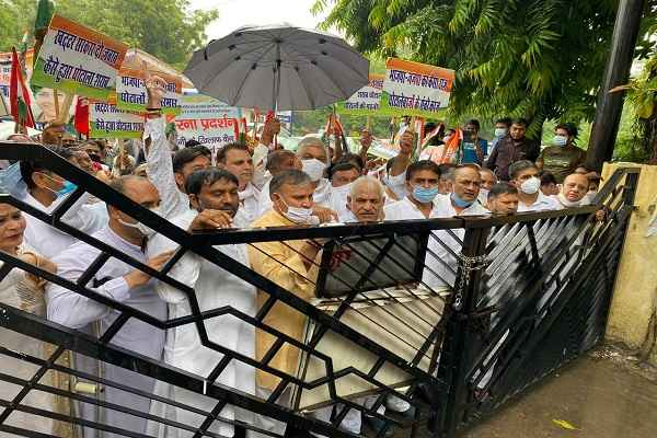 faridabad-congress-workers-united-against-scams-in-bjp-government