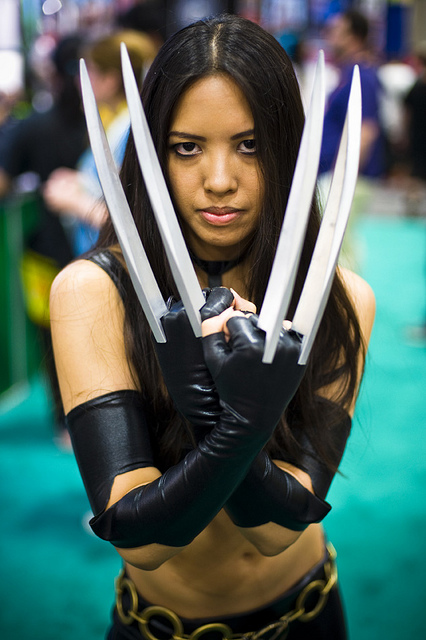 knives wolverine cosplay female