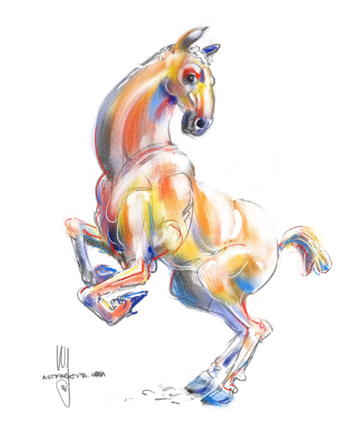 Colorfull horse by Ulf Artmagenta